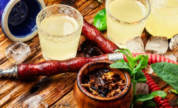 The Art of combining hookah with drinks and food